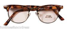 Brown Tortoise Shell OAP Old Man Lady Granny Grandpa Glasses Joke Fancy Dress