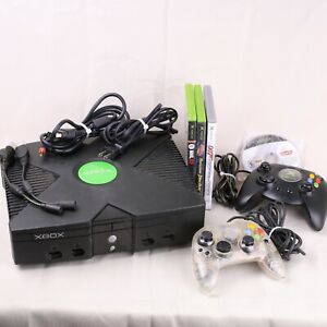 Microsoft Original Xbox with 2 Controllers, and 4 Games - TESTED AND WORKING!