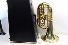 Yamaha YBH301M Horn YBH 301 LACQUERED Marching Baritone Hard Case & Mouthpiece