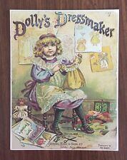 "Dolly's Dressmaker Antique Doll Pattern Wardrobe 9"", No. 1741, Nos"