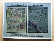 Disney Mickey Mouse 1956 Printing Plate & Page 12 x 15 metal plate framed