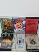 Vintage Retro Christmas Religious Music Cassettes Tapes Bundle x 6 Carols Choir
