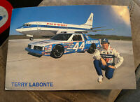 Terry Labonte Piedmont Car Hero Card Post Card NASCAR Vintage