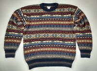 Vintage Florence Mens Tricot Sweater Size XL Cosby Coogi Multi Colored Stripe