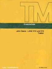 Ersatzteilliste Ersatzteilkatalog CD-Rom zum Traktor John Deere-LANZ 310 510