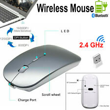 Computer Mouse Wireless 2.4 GHz Cordless Mouse USB Dongle Mice For PC MAC Laptop