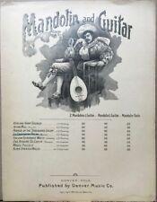 1894 Mandolin & Guitar~Antique Sheet Music~Troubadour Illus.~Denver Music Co.