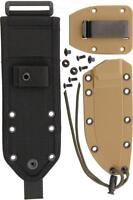ESEE Model 4 Coyote Tan Knife Sheath w/ Black MOLLE Back + Attachments RC21SS