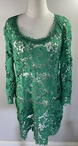 Moss & Spy - Green Lace Dress - Size 14 - Preowned VGC