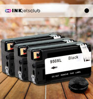 Compatible HP 950XL Printers (CN045AN) High-Yield Black 3 Pack Ink cartridges
