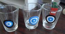 "Cool Lot of 3 Bullseye Shot Glasses 2"" Tall  LOOK"