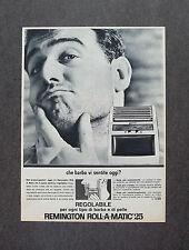 H950- Advertising Pubblicità - 1964 - REMINGTON RASOIO ELETTRICO ROLL-A-MATIC 25