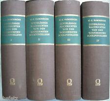 Hamberger: Zuverlässige Nachrichten; Reprint, 4 Bände, Bibliografie