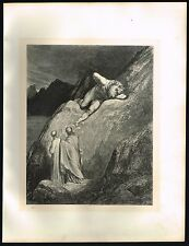 1860s Original Antique Minotaur Man Gustave Dore Art Engraving Print