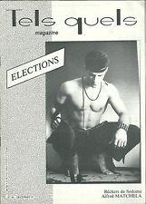 Tels Quels # 60 1987 Gay homosexualité Election Lever Matchela Antenne rose