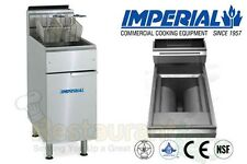 IMPERIAL COMMERCIAL FRYER GAS-OPEN POT FRY POT PROPANE MODEL IFS-40-OP