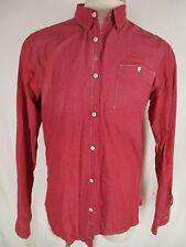 Scotch & Soda Mens Red Check Long Sleeve Cotton Shirt XL