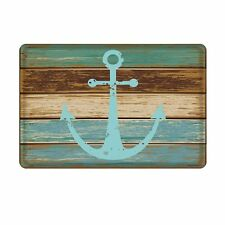 Nautical Anchor Bathroom Rug Decor Beach Mat Ocean Sea Navy Water Blue Home