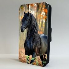 Fresian Black Horse Forest FLIP PHONE CASE COVER for IPHONE SAMSUNG