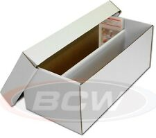 3 BCW Graded Card Shoe Box Gaming Trading  Sports 2 Row Cardboard Storage