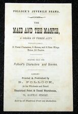 Toy Theatre - Original Playbook - Pollock's THE MAID & THE MAGPIE