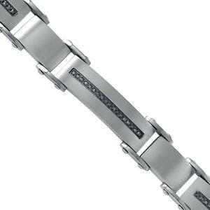 Signature GOLD SERIES III Stainless Steel diamond bracelet sst1455a