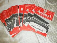 Arsenal Home Team FA Cup Football Programmes