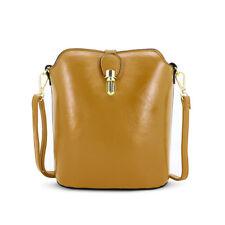 Ladies Faux Leather Shoulder Bag Over-body Messenger Bag Saddle Handbag 8203