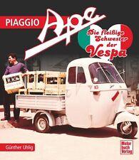 PIAGGIO APE Dreirad Biene Transporter Modelle Typen Geschichte Vespa APECAR Buch
