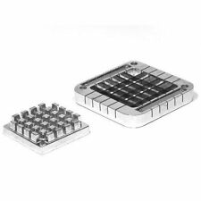 """New UpDate 1/2"""" Square French Fry Cutter & Plunger Pusher Block Set Xffc-50B"""
