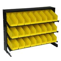 Small Parts Organizer Storage Rack 24-Compartment Removable Bins Bolt Nuts Tools