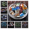 10Pcs 13X13mm Flat Square Cube Faceted Crystal Glass Loose Beads Jewelry Making