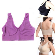 New Women Sports Bra Tank Vest Crop Tops Yoga Bra Solid Soft Sports Casual S-3XL