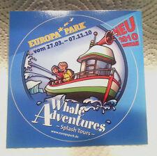 1 autocollant: Parc d'attractions Europa-Park Rust. De 2010. Whale Adventures.