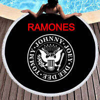 Ramones Cool Round Towel Tapestry Yoga Beach Mat Blanket