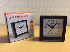 Quarzwecker schwarz Reisewecker Miniwecker Tischwecker Urlaub Mebus - B Ware