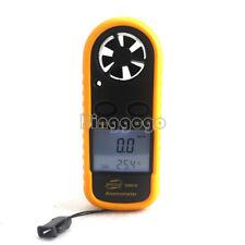 Digital Mini LCD Wind Speed Gauge Air Velocity Meter Anemometer NTC Thermometer