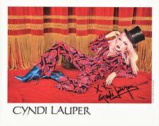 CYNDI LAUPER Signed Photo