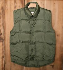 GANDER MOUNTAIN Olive Army Green Quilted Duck Down Insulated Vest Men's Sz. M