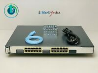 Cisco WS-C3750G-24T-E • 24 Port Gigabit Switch ■1 YR WARRANTY • SAMEDAYSHIPPING■