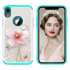 2 in 1 Painting Anti-fall PC+TPU Bumper Back Cover Case for iPhone XR X XS Max