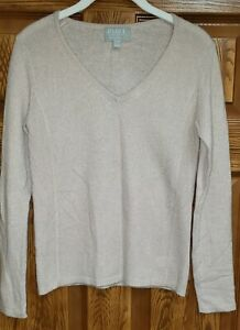 PURE Collection V-Neck Pullover Sweater size 2 100% Cashmere