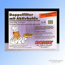 Universal Fettfilter + Kohlefilter Aktivkohlefilter Dunstabzugshaube 57x47 Vlies