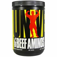 UNIVERSAL NUTRITION BEEF AMINOS Lean Muscle Gain Pure Mass Recovery 200 TAB