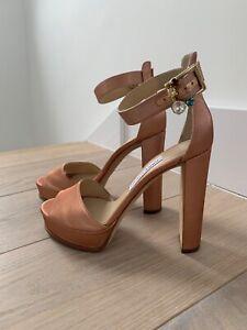 Jimmy Choo Silk Platform Sandals Size 39EU/6UK In Very Good Condition. RRP £700