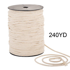Macrame Cord 4mm x 240yd | 100% Natual Cotton Macrame Rope | 3 Strand Twisted