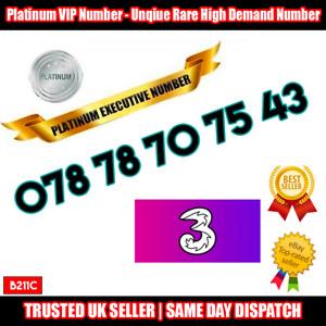 PLATINUM Number - VIP Executive Sim - 078 78 70 75 43 - Unique Easy to Memorise