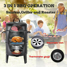 Outdoor Camping Beach Barbecue Heavy-duty steel 3-in-1 Charcoal BBQ Smoker