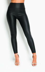 IKRUSH Womens Eunice Faux Leather Leggings
