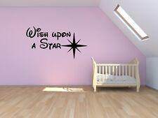 Wish upon a star Disney Inspired quote wall nursery children vinyl/decal/sticker